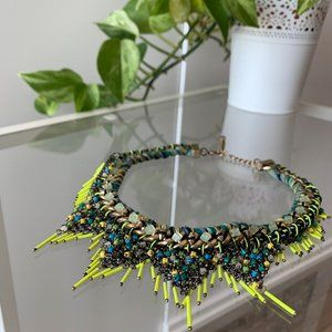 Zara Neon Beaded Collar Necklace